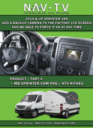 NTV-KIT477 Mercedes Benz Sprinter Backup Camera Add On